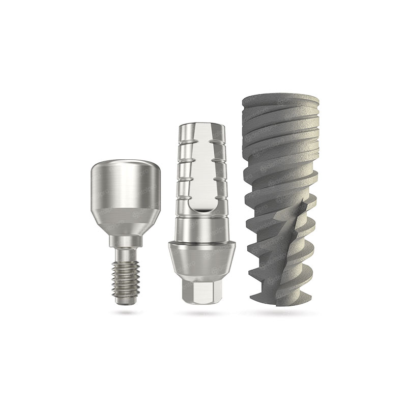 NEO® Implant + Straight Abutment + Healing Cap - Internal Hex