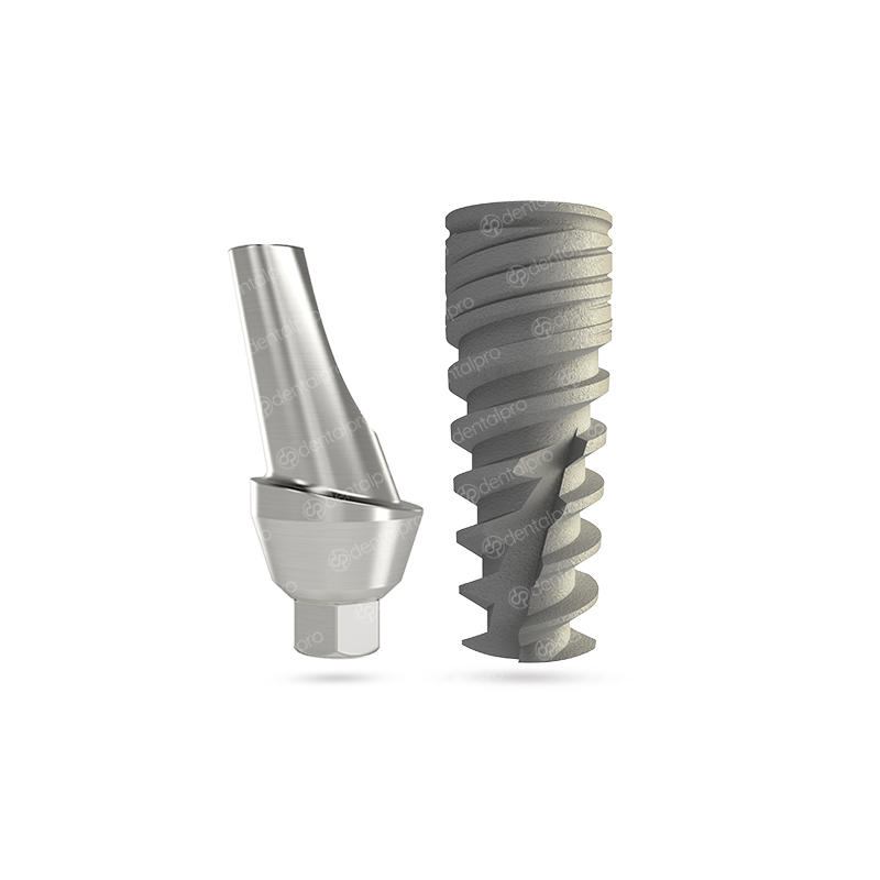 NEO® Implant + Angled Titanium Abutment - Internal Hex