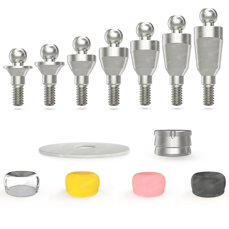 Straight Titanium Ball Attachment Set - Internal Hex (NP)