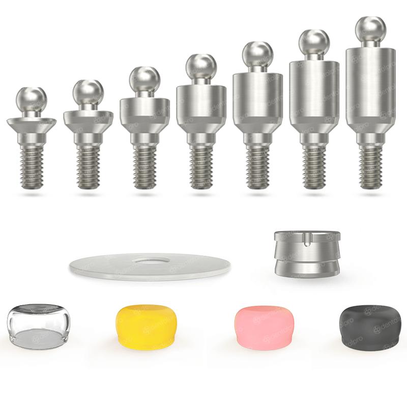 Straight Titanium Ball Attachment Set - Internal Hex (SP)