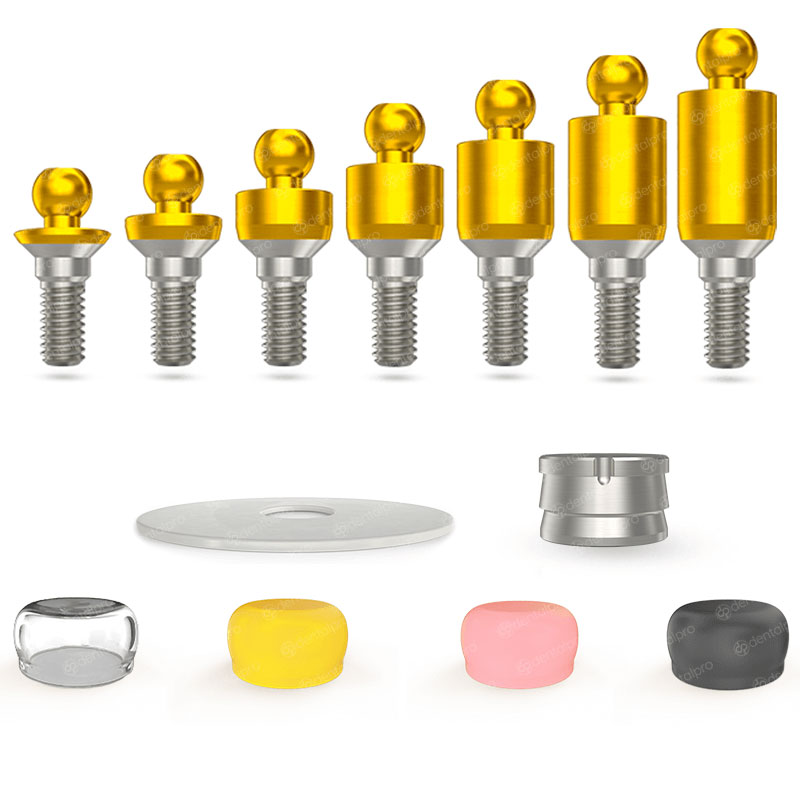 Premium Golden Straight Ball Attachment Set - Internal Hex (SP)