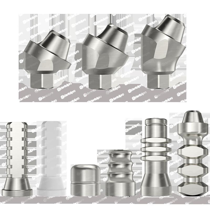 30° Angled Multi Unit Titanium Abutment Full Set for Dental Implant - Internal Hex (SP)
