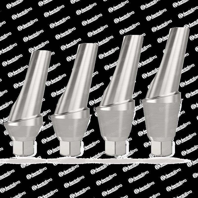 15° Angled Titanium Shoulder Abutment For Dental Implant - Internal Hex (NP)