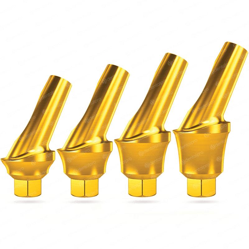 25° Angled Concave Titanium Abutment for Dental Implant - Internal Hex (SP)