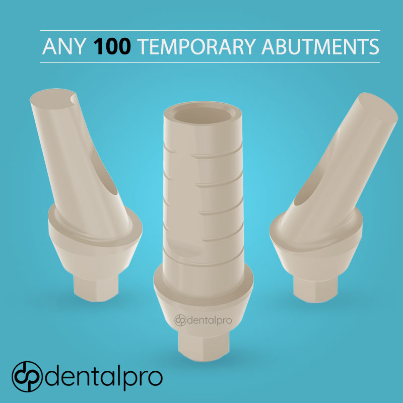 Any 100 Temporary Peek / Titanium Abutments for - Internal Hex
