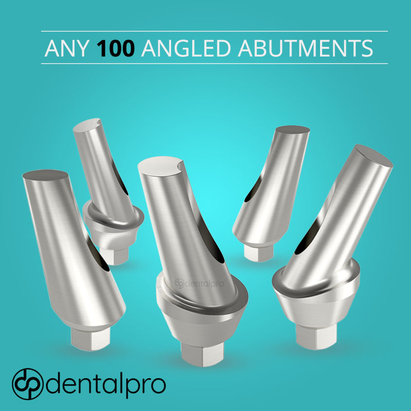 Any 100 Angled Titanium Abutments for Dental Implant - Internal Hex