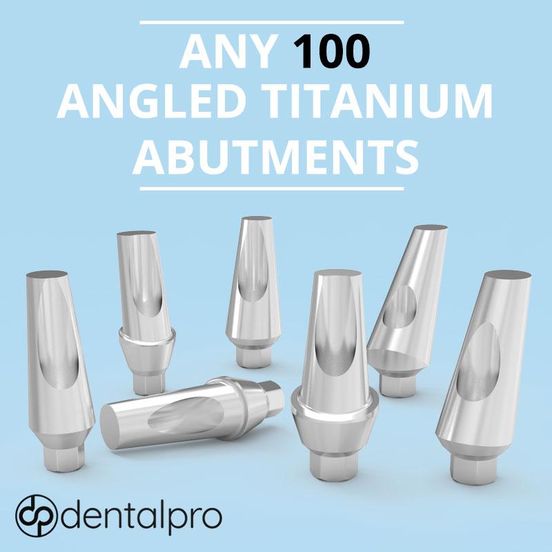 Any 100 Angled Titanium Abutments for Dental Implant - Internal Hex