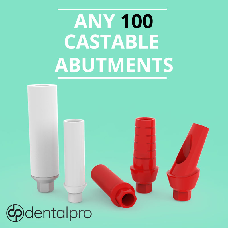 Any 100 Any 100 Castable Plastic Abutments for - Internal Hex