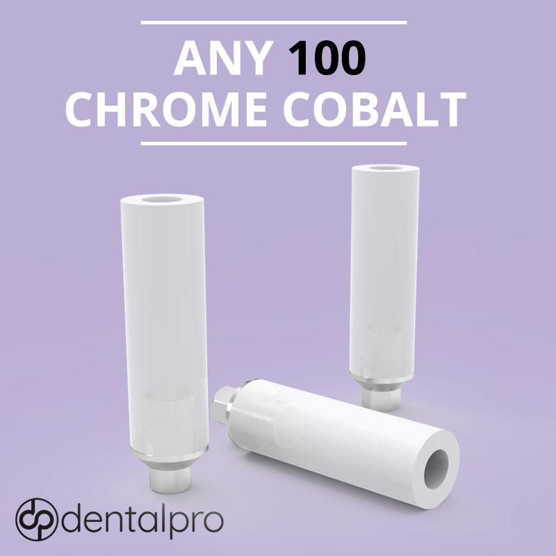 Any 100 Chrome Cobalt UCLA Abutment for - Internal Hex