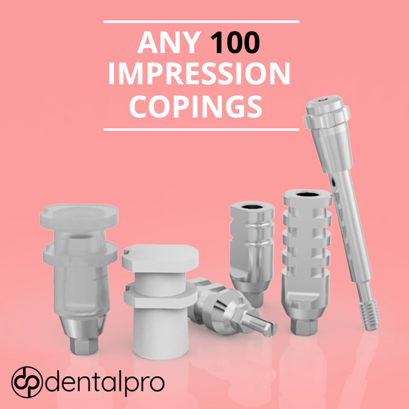 Any 100 Impression Copings Transfer Abutments for - Internal Hex