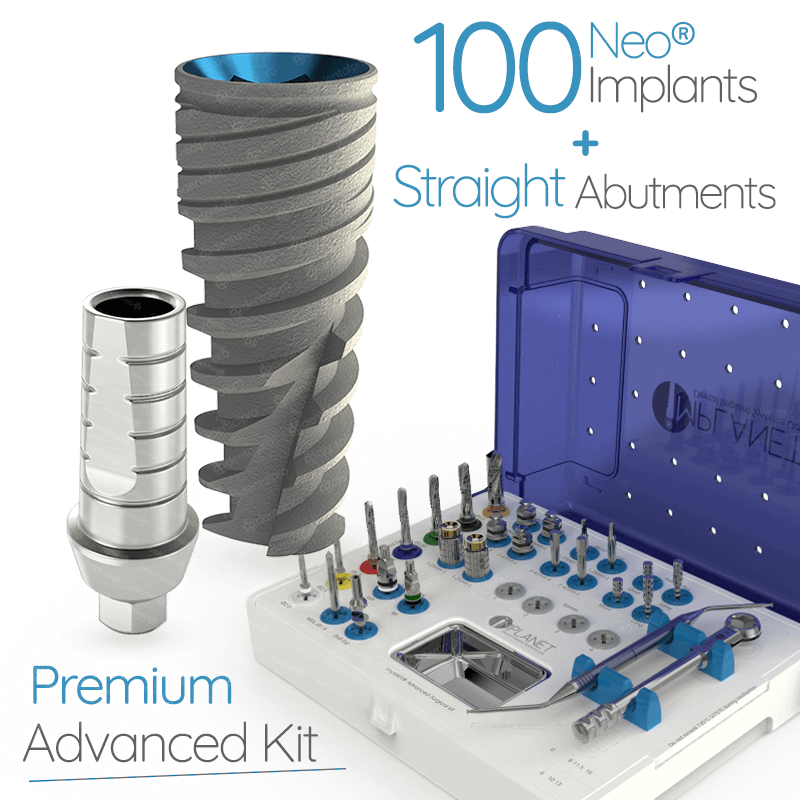 100 Neo® Implants + 100 Straight Abuments + ImplaKit® Advanced - Internal Hex