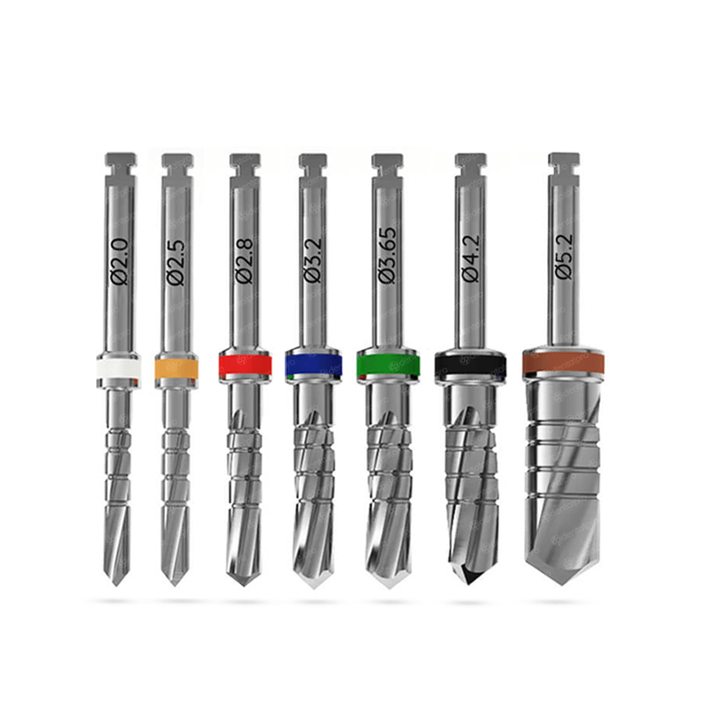 Short External Irrigation Parallel Twisted Drill for Dental Implant
